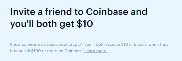 coinbase referral bonus